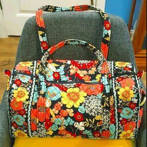 *VERA BRADLEY* Small Floral Duffel/Overnight Bag